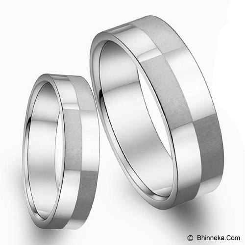 TITANIUM RING Cincin Couple Size 6(F) & 9(M) [GS291] - White - Cincin